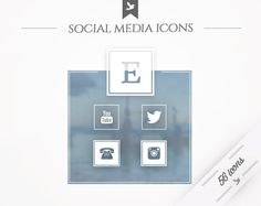 Social Media Icons Big Picture by FlyBirdBranding on Etsy