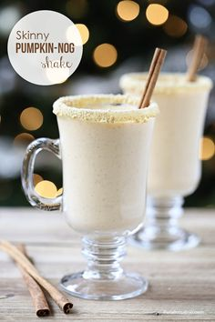 SKinny pumpkin nog shake on iheartnaptime.com -so good and light on calories!