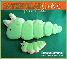 CookieCrazie: Gone Buggy: Caterpillar Cookies (Tutorial)