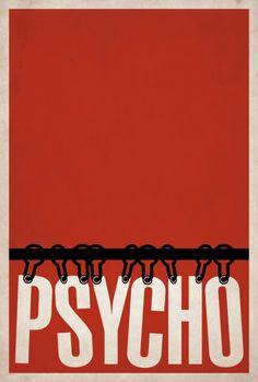Psycho minimalist poster.