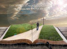 Afbeeldingsresultaat voor Gods Woord . Uw Woord is een lamp voor mijn voet en een licht op mijn pad . Psalm 119:105