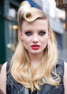 Retro pinned-hair