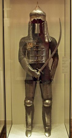 century Turkish armour This is a good idea for SCA Armor Medieval Knight, Medieval Armor, Medieval Fantasy, Arm Armor, Body Armor, Elmo, A Knight's Tale, Ancient Armor, Evolution Of Fashion