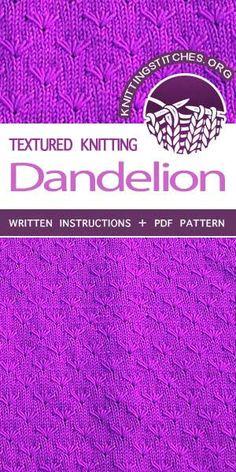 Knitting Stitches -- Knits, Knitting stitches and Knitting patterns. Free Knitting Pattern #knittingstitches #knittingpattern