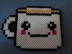 Kawaii cup perler beads by GwenniStars
