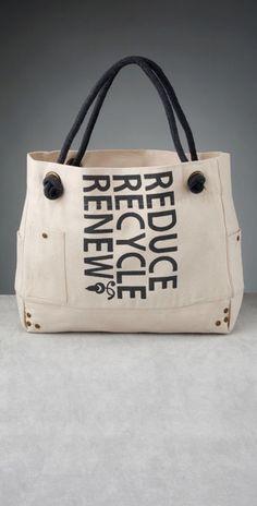 Eco Bag!!! Reduci el uso de bolsas de nylon! andá al super con changuito o con bolsas ecológicas. Lleva siempre una en la cartera para los mandados de pasada!