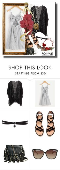 """Romwe contest"" by azrahadzic ❤ liked on Polyvore featuring Fallon, GUESS by Marciano and Linda Farrow"