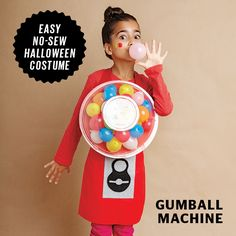 Your kid will be blowing bubbles all night in this cute gumball machine costume. Candy Halloween Costumes, Spooky Halloween, Halloween Party, Kid Costumes, Halloween 2017, Costume Ideas, Family Costumes For 3, Gumball Machine Costume, Blowing Bubbles