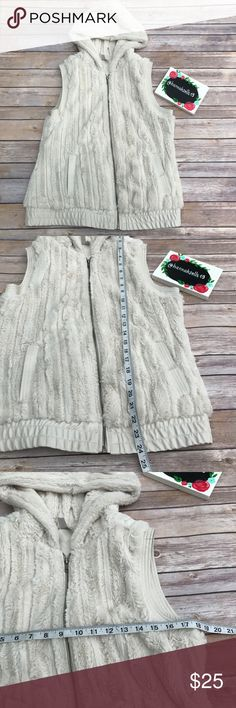 Vanity Faux Fur Vest size Large Like new super soft and Plush Faux Fur hooded vest from Vanity. Perfect for Fall! 💠From a clean and smoke free home!💠 Add to a bundle to get a private discount 💠 Discount ALWAYS Available on 2+ items💠 No trades, holds, modeling or transactions off of Poshmark.💠 Vanity Jackets & Coats