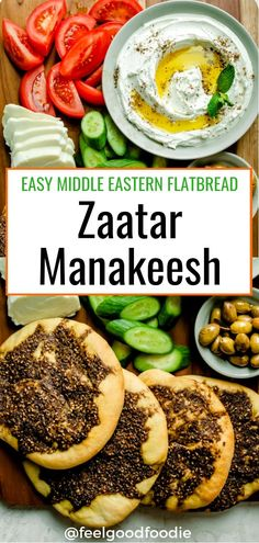 Zaatar Manakeesh is a Mediterranean flatbread that's made with dough and zaatar spice. It's an easy recipe to make from scratch using very few ingredients! Manakish | Manaeesh | Arabic Food | Ramadan | Lebanese Recipes | Mediterranean Food #zaatar #manakeesh #ramadan #ramadanfood #mezzafood #lebaneserecipes Brunch Recipes, Breakfast Recipes, Dinner Recipes, Dessert Recipes, Manakeesh Recipe, Recipe Ideas, Healthy Ramadan Recipes, Egyptian Food, Diets