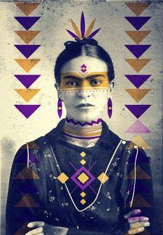 befairbefunky:  Frida Kahlo by Cosmic Dust