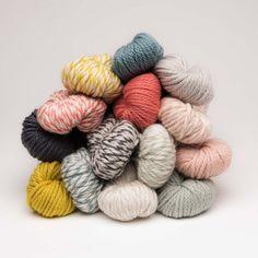 Chibi Paka Chunky Yarn in lots of colors and variegated. #chunkyyarn Chibi, Woven Wrap, Knitting Kits, Sewing Leather, Neutral Palette, Wave Pattern, Baby Alpaca, Chunky Yarn, Sock Yarn