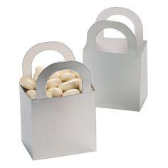 Silver Favor Gift Baskets - OrientalTrading.com