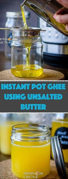 Herbivore Cucina: Instant Pot Ghee using Unsalted Butter...The Instant Pot and 15 minutes is ALL you need to get a bottle of Liquid Gold in your kitchen. Follow this method to make ghee at home! #ghee #clarifiedbutter #keto #instantpot #instantpotrecipes Popular Recipes, New Recipes, Vegetarian Recipes, Favorite Recipes, Making Ghee, Clarified Butter, Instant Pot Pressure Cooker, Paleo Dinner, Paleo Dessert