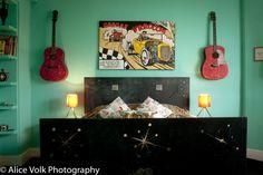 Hotel Pelirocco Rockabilly Room launch interior photography brighton holiday 50's theme