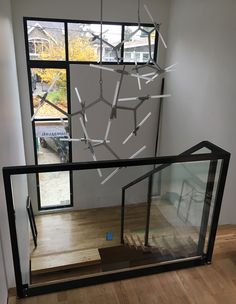 Glass Stair Balustrade, Glass Railing, Stair Railing, Interior Railings, Glass Stairs, Bannister, Modern Glass, Home Interior Design, Vancouver