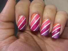 Candy Cane nails with a twist