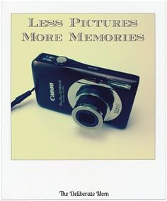 Less Pictures, More Memories | Contemplating if taking pictures impacts the encounters I have with with my child.