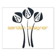 """Classic Garden Designer Hobby Logo Poster #gardener #poster 16""""x20"""" $18.99 Buy now!"""