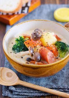『たっぷり野菜のほっこり♡豆乳味噌スープ』 by Yuu | レシピサイト「Nadia | ナディア」プロの料理を無料で検索