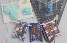 Patriotic Banner featuring the Mini Alphabet Punch Board by Becki Adams for We R Memory Keepers