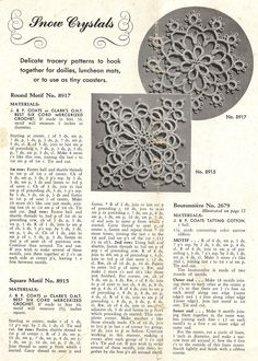 All sizes | 1940's tatting motifs | Flickr - Photo Sharing!