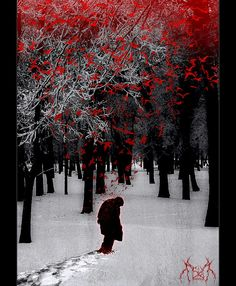 """Red birds escape from my wounds, and return as falling snow..."" ~Agalloch."