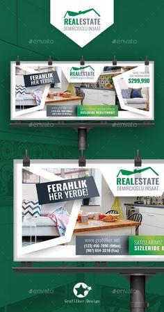 Real Estate Billboard Templates by grafilker Real Estate Billboard Templates Fully layeredINDDFully layeredPSD300 Dpi, CMYKIDML format openIndesign CS4 or laterCompletely edit
