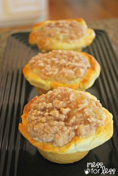 Apple Pie Muffins Using Crescent Rolls - These are so simple to make and use popular crescent rolls.