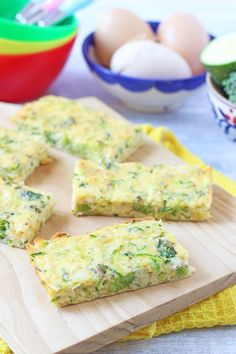 * Broccoli and Cheese Frittata Fingers. They were okay. I wasn't a huge fan, but the kids ate them and seemed to like it.