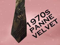 Vintage Velvet Necktie- 70s Brown Panne Velvet Wide Tie by LunaJunctionVintage on Etsy