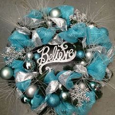 Christmas Wreaths-need to stock up on ornaments on Black Friday! blue and silver Christmas decorations Silver Christmas, Christmas Holidays, Christmas Trees, Green Christmas, Christmas Ornaments, Gold Ornaments, Christmas Tabletop, French Christmas, Cottage Christmas