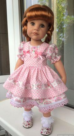 Новенькая девочка Gotz / Куклы Gotz - коллекционные и игровые Готц / Бэйбики. Куклы фото. Одежда для кукол American Girl Dress, American Doll Clothes, Baby Doll Clothes, Barbie Clothes, Girl Dress Patterns, Doll Clothes Patterns, Doll Fancy Dress, Baby Dress Design, Gotz Dolls