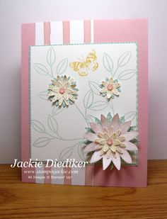 Today's card features the fabulous trio of colors in this week's Pals Paper Arts Challenge plus the lovely Grateful Bunch stamp set and Blossom Bunch Punch!