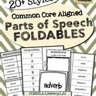 Parts of Speech Foldables. 20+ Styles!  Common Core Aligned
