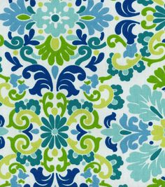 P/K Lifestyles Upholstery Fabric-Art View Seaspray