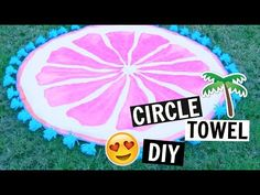 DIY Tumblr Inspired Round Beach Towels! *NO SEW* - YouTube
