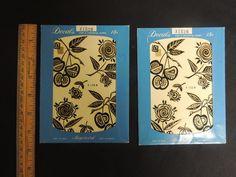 Vintage Meyercord Decals 2 pc Black Gold Fruit 1950's  Mid Century Modern WOW! #Modern