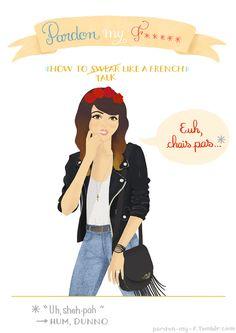 Pardon My F***** - Vaimiti Tragin: Design  Illustration Apprendre* les jurons français à l'aide d'illustrations (*aux anglophones)