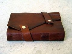 DIY Leather Journal.... I want this sooo bad! And I saw an incredible use for it- a love map.... pin to come!