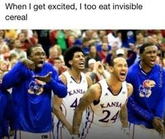 exited -> eat invisible cereal