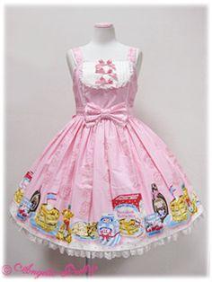 Angelic Pretty Honey Cake Yoke JSK in pink - owned