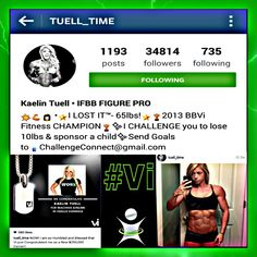 For those of you that want motivation look at what kaelin has done. She got ripped, helped many people out and even congratulated for being a 250,000.00 earner in Visalus!! Not to mention competing in fitness comps this girl is beyond rockstar!! Wtg @tuell_time you inspire us all!!! #hustle #girls #dreams #grinding #awesome #WCW #bestoftheday #challenge #determined #inspiration #instafit #instagood #physique #bodybuilder #motivation #vilife #fitnation #hardbody #fitspo #healthy #vilife…