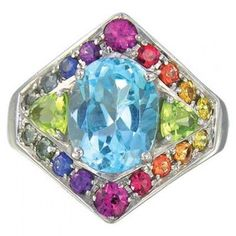 Multicolor Rainbow Sapphire Blue Topaz and by RainbowSapphire, $175.00