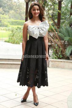 Alia Bhatt at a #KapoorAndSons promo event.