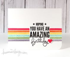 MACM - Hoping You Have An Amazing Birthday  Love the use of the glitter - very cool.