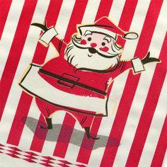 Retro Santa #cute #Christmas