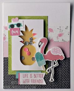 TweetScraps: August Card Workshop - Calypso Shaker  Cards! Card 1