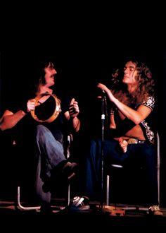John Bonham and Robert Plant