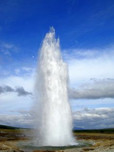 Geyser at Gulfoss, Iceland - If you thought Yellowstone had a nice geyser you should check out this Icelandic feature.